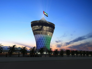 Yas Marina Circuit Sun Tower at Sundown
